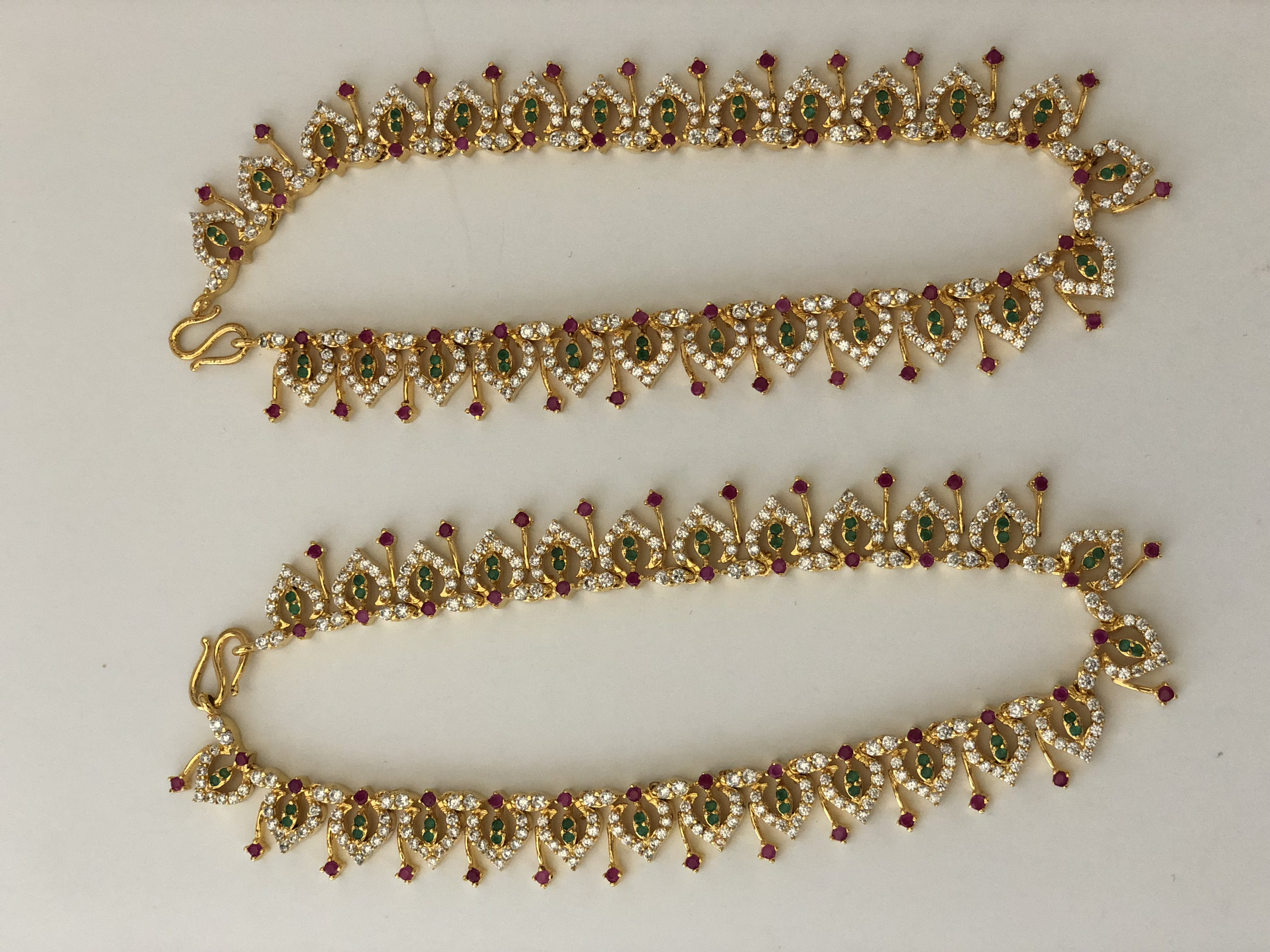online gold anklets single for payal indian buy caymancode anklet ball design